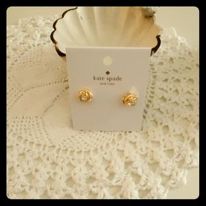 Kate Spade Mini Knot Gold Earrings Infinity Beyond
